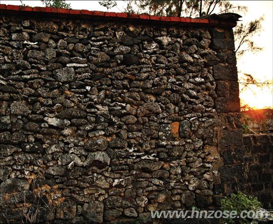 南岛视界 杂志精选      百年珊瑚     珊瑚石与火山岩垒砌的墙,分隔
